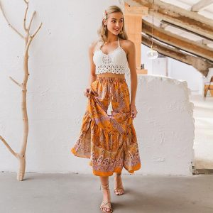 Woman Bohemian Long Skirt