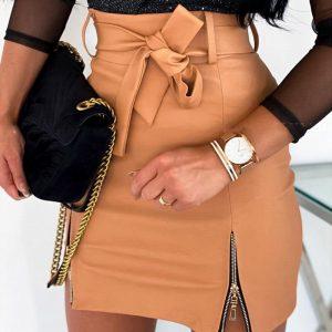 Hippie Leather Skirt