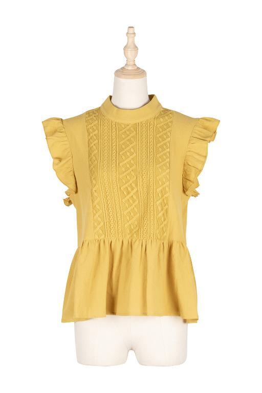 Yellow Mustard Bohemian Top