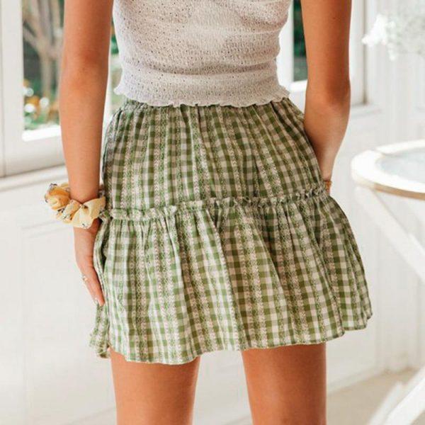 Bohemian Summer Checkered Skirt