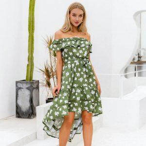 Bohemian Off Shoulder Dress