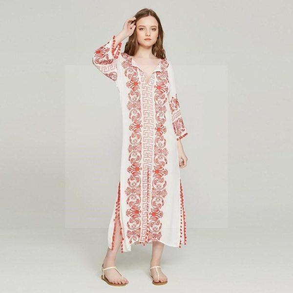 Cheap white hippie chic dress