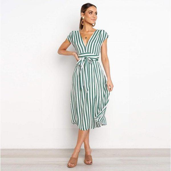 Bohemian chic pastel dress