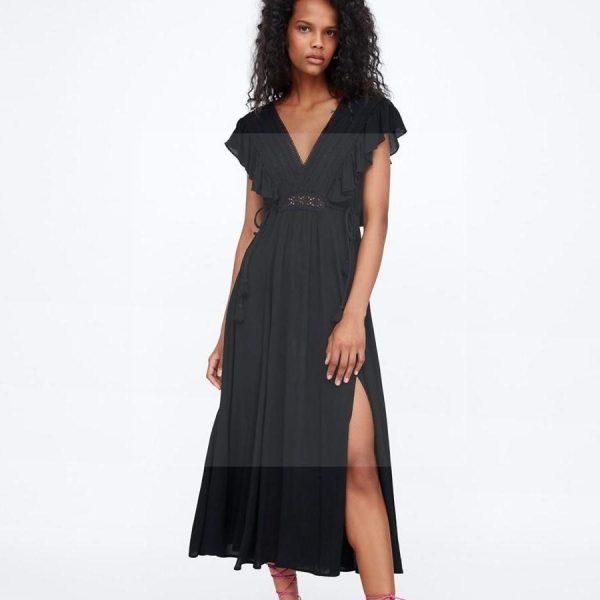 Bohemian Slit Dress