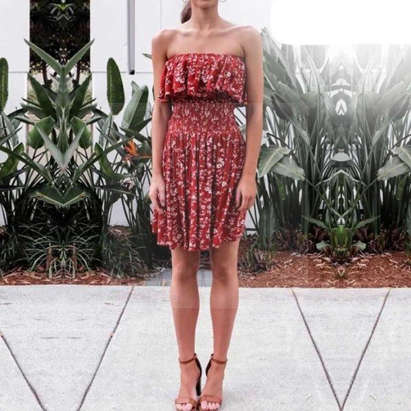 Bohemian sleeveless dress